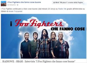 I foo fighters ringraziano SBAM