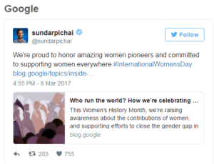 google womens day