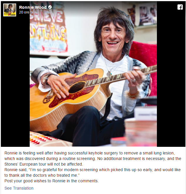 RONNIE WOOD POST